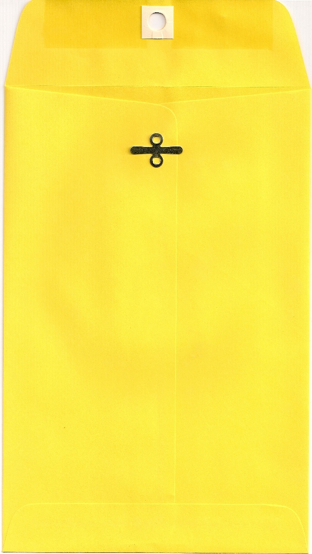6X9 CLASP ENVELOPES BRIGHT YELLOW 10s
