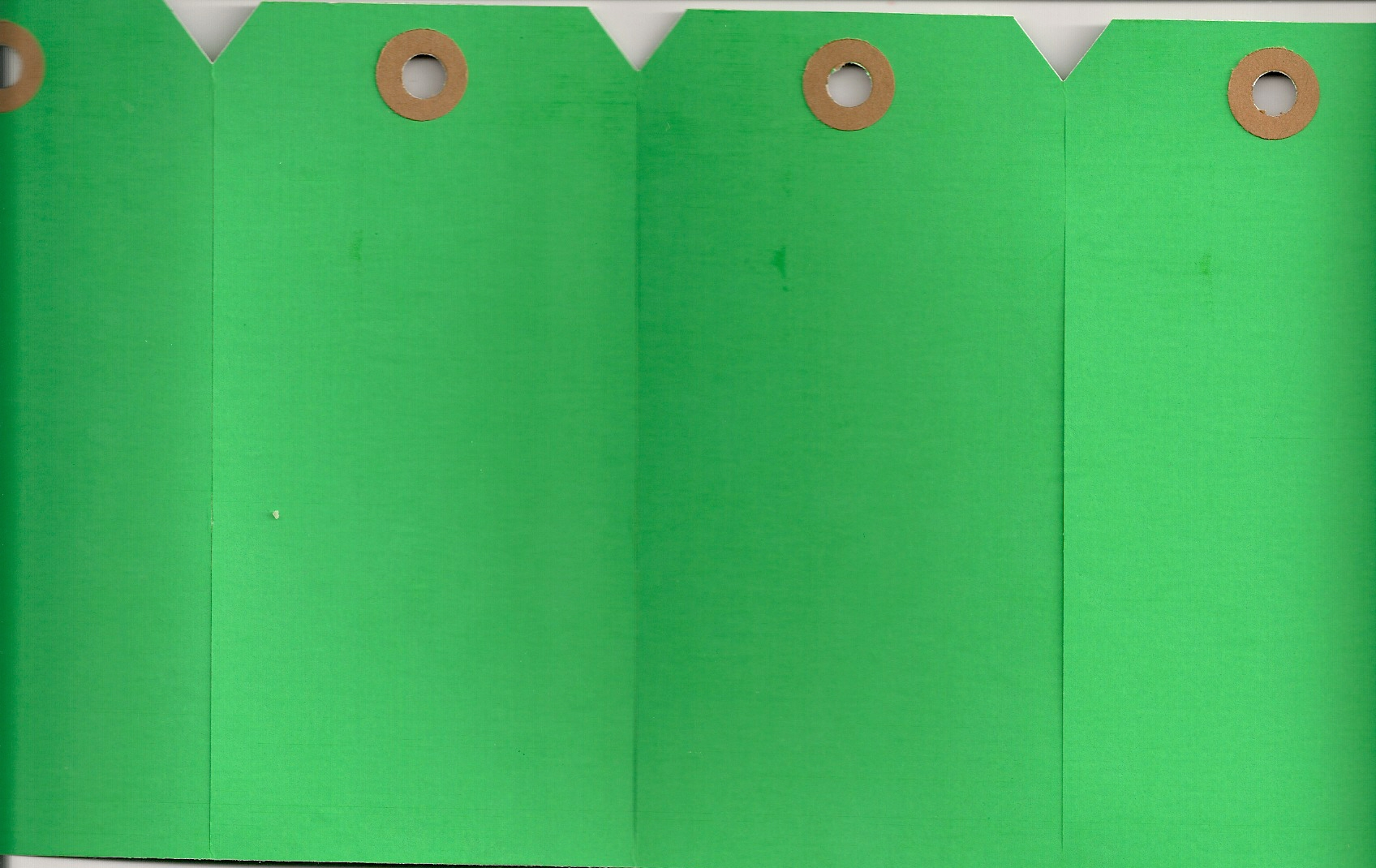 #4 13 POINT GREEN GANGS OF 4 TAGS (250 SHEETS)