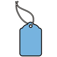 1-1/4 X 13/16  BLUE MERCHANDISE TAGS w/white knotted polyester string  1000s