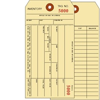 15060 1 PART INVENTORY TAGS # 5000-5499