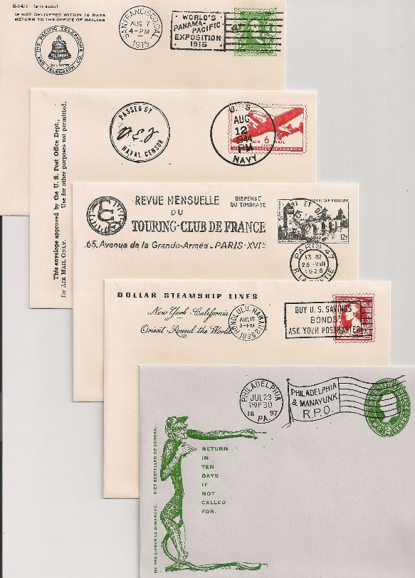 HISTORICAL ENVELOPES ASSORTED (4-3/8X5-3/4) 5/pk