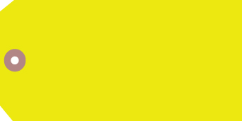 #8 13PT YELLOW GLOBRITE TAGS 500s