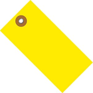 #5 YELLOW TYVEK W/METAL EYELET TAGS 1000s