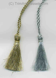"METALLIC GOLD ELASTIC TASSELS 5"" LOOPS (10/PACK)"