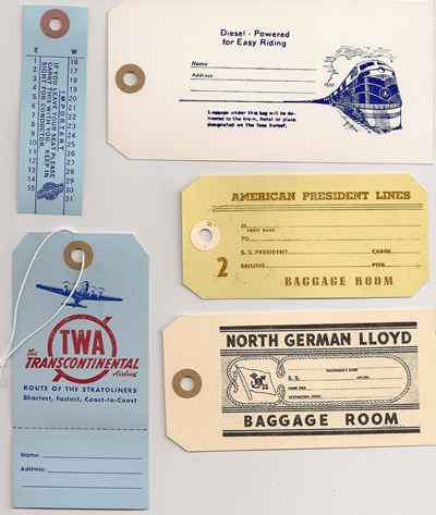 TRAVEL TAGS ASST`D