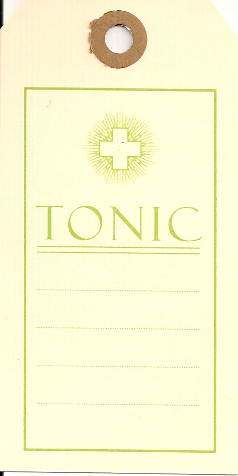 TONIC-OLD MEDICINE TAGS 100s