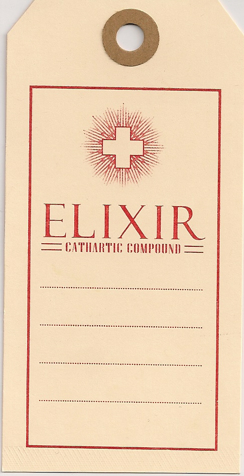ELIXIR-OLD MEDICINE TAGS 100/PK