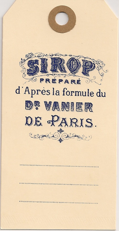SIROP-OLD MEDICINE TAGS 100s