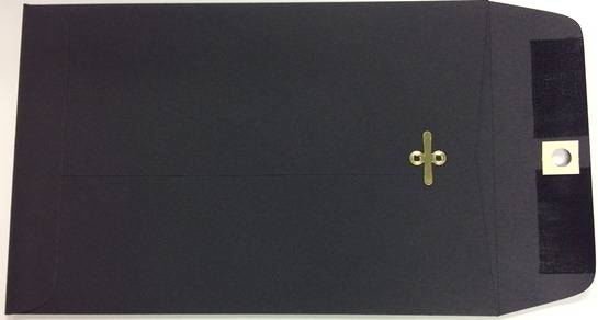 6X9 CLASP ENVELOPES MIDNIGHT BLACK 10s