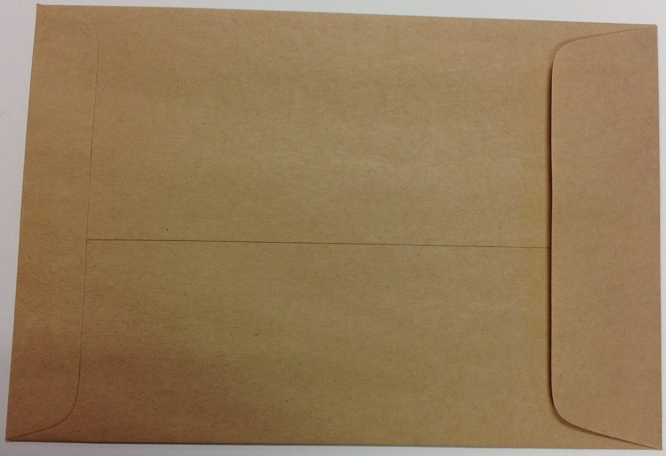 6.5 x 9.5 KRAFT ENVELOPES 100s (Recycled 60#, gummed flap, open on the short  side)