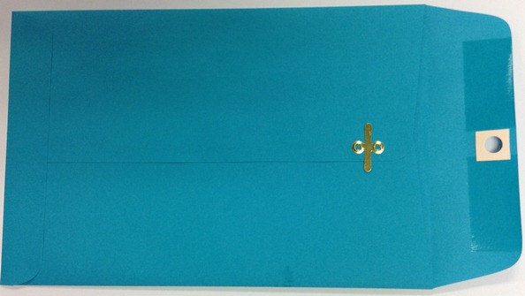 6X9 CLASP ENVELOPES TEAL 100s