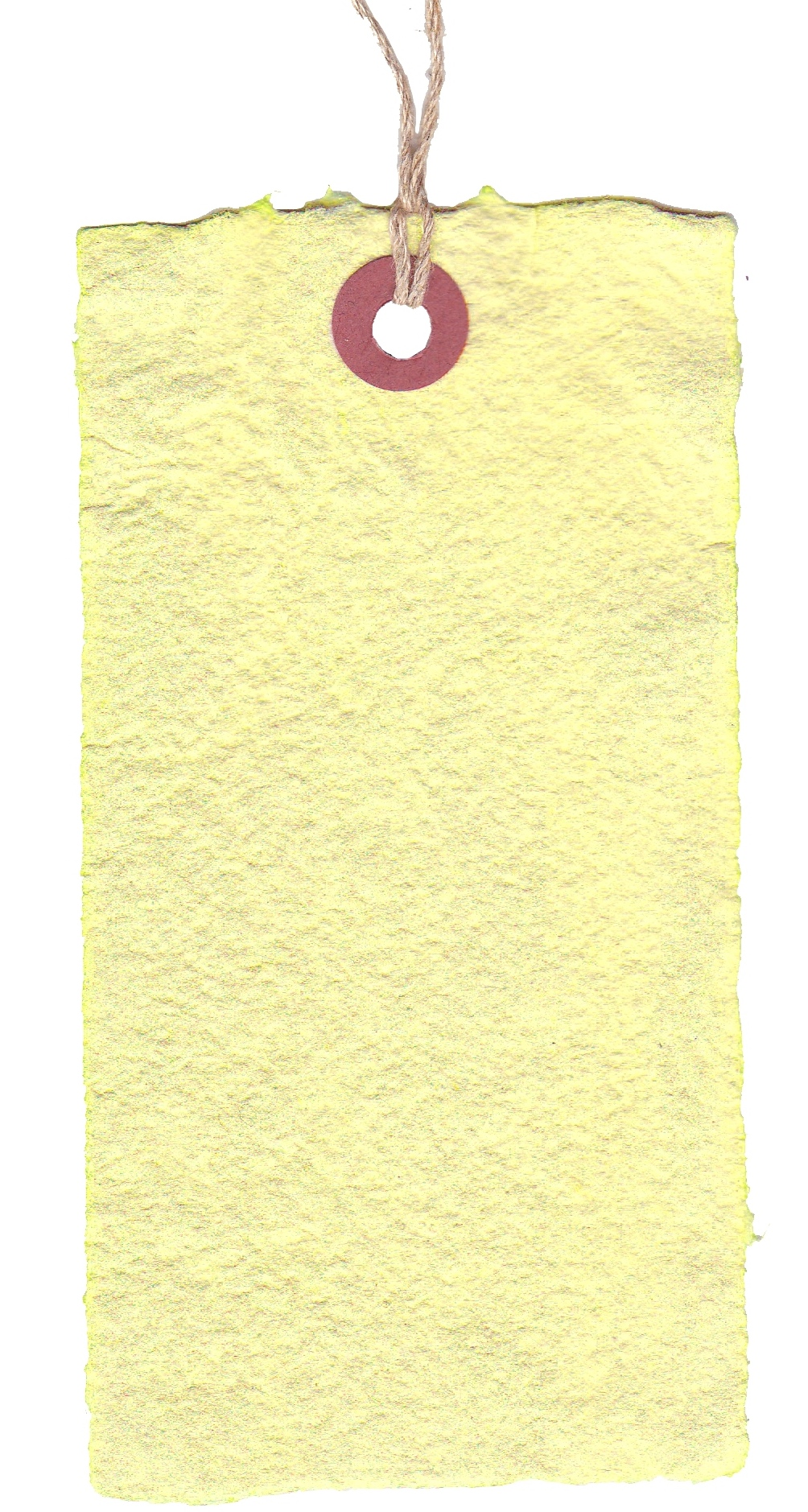 23030B - (5-1/4X2-5/8) HEMP PAPER TAG LEMON