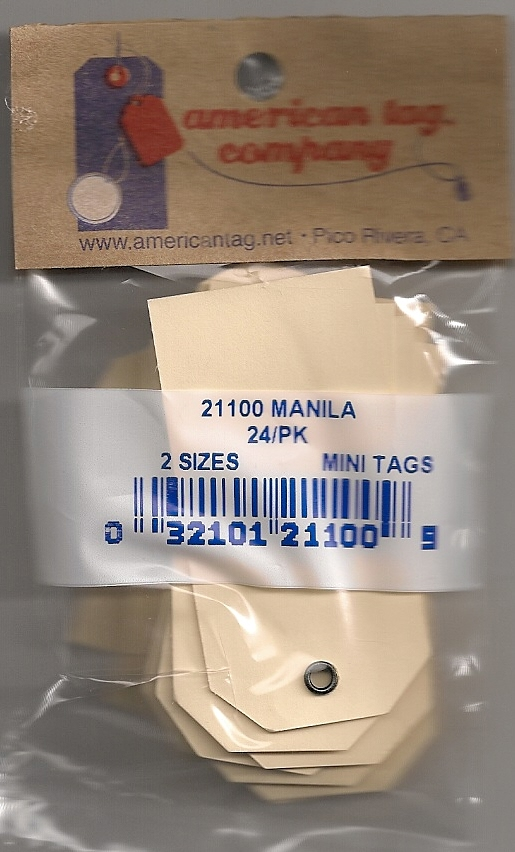 21100 -MINI MANILA TAGS W/METAL EYELET