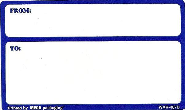 3 X 5 BLUE ADDRESS LABELS 10/PK