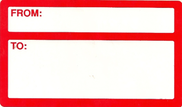 3 X 5 RED ADDRESS LABELS 10/PK